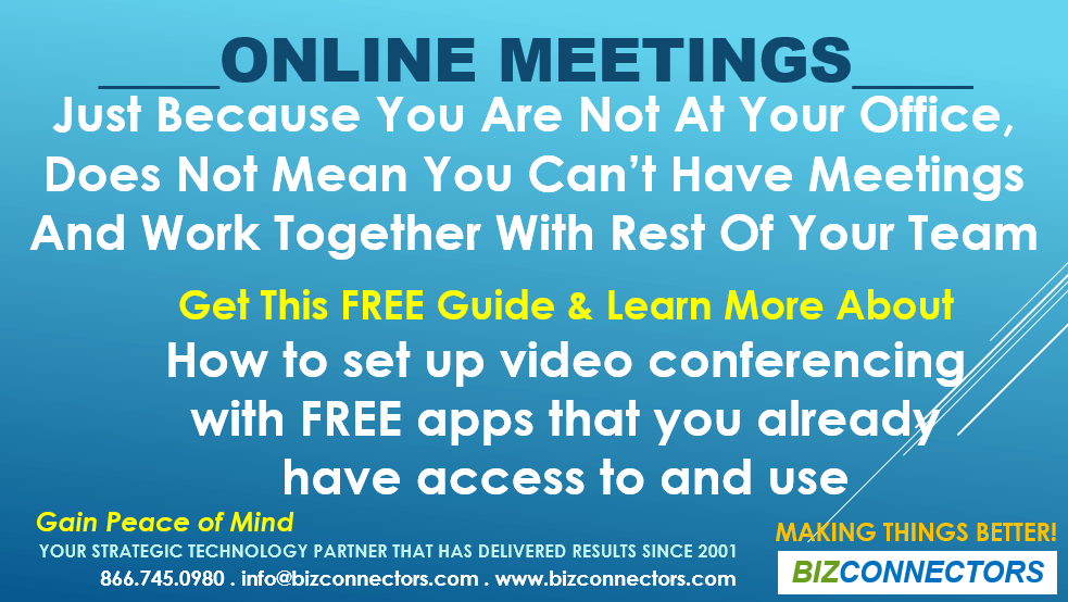 Online Meetings & Stay At Home