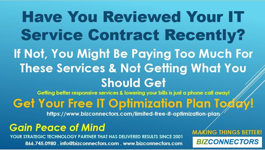 IT service contract & IT Optimization Plan