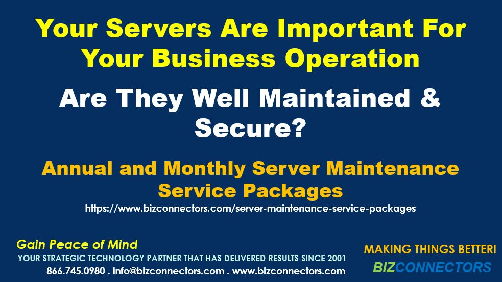 Server Maintenance Service Packages