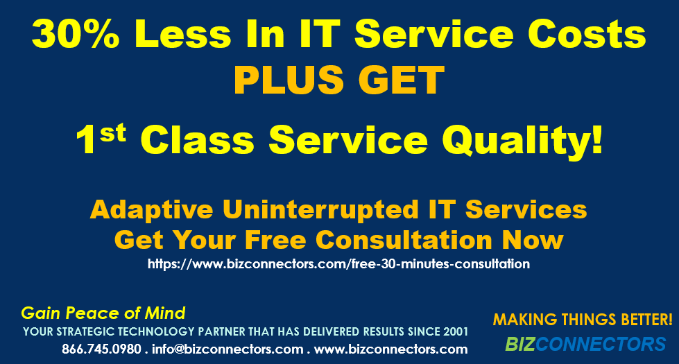 30% Less In IT Service Costs & Get 1st Class Services Quality!
