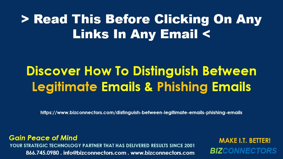 Distinguish Between Legitimate Emails From Phishing Emails