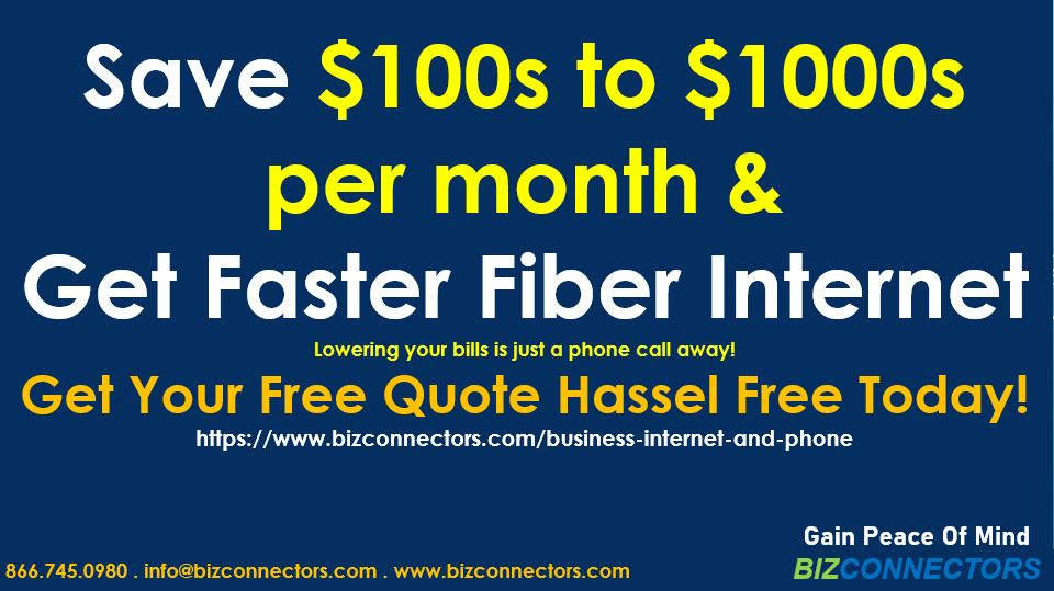 Save $100s to $1000s per month & Get Faster Fiber Internet