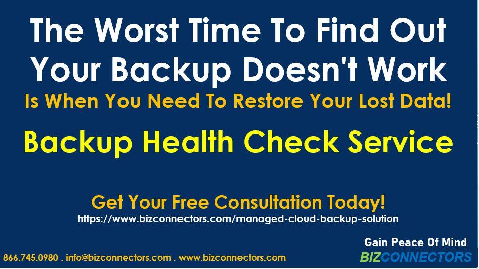 Backup Health Check Service