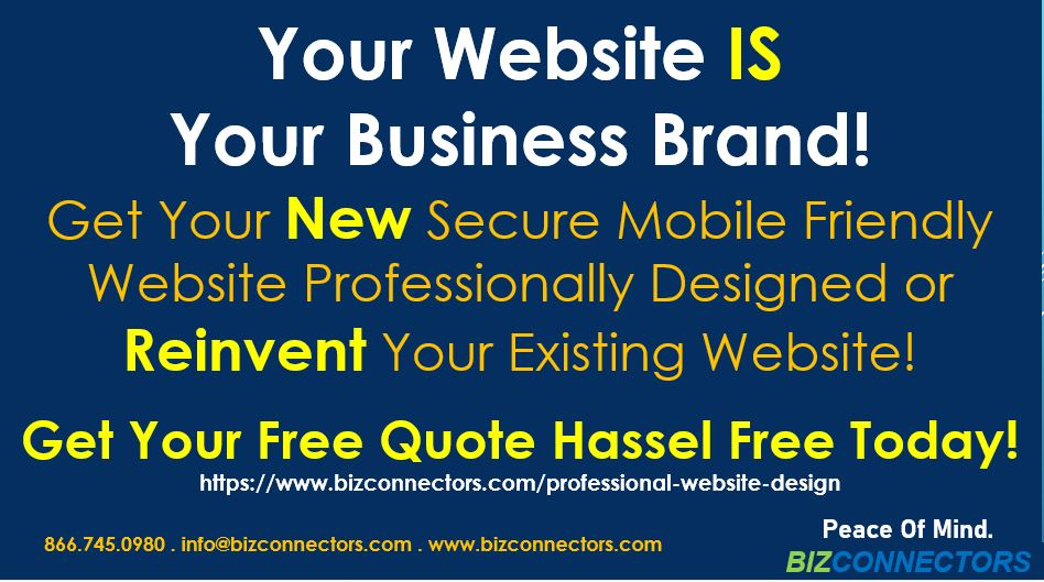 Bizconnectors Secure Mobile Friendly and Search Engine Friendly Website Solution.