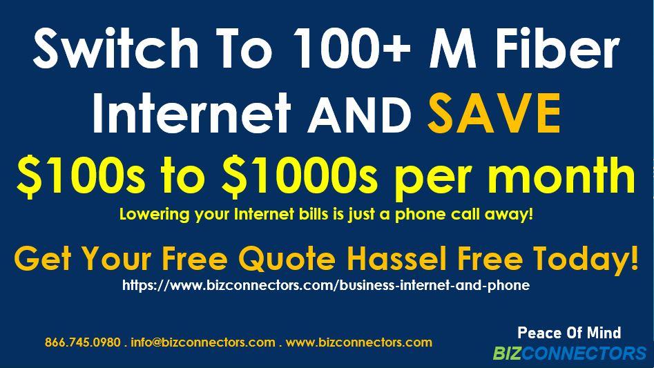 Business Internet 100+ Mbps Fiber