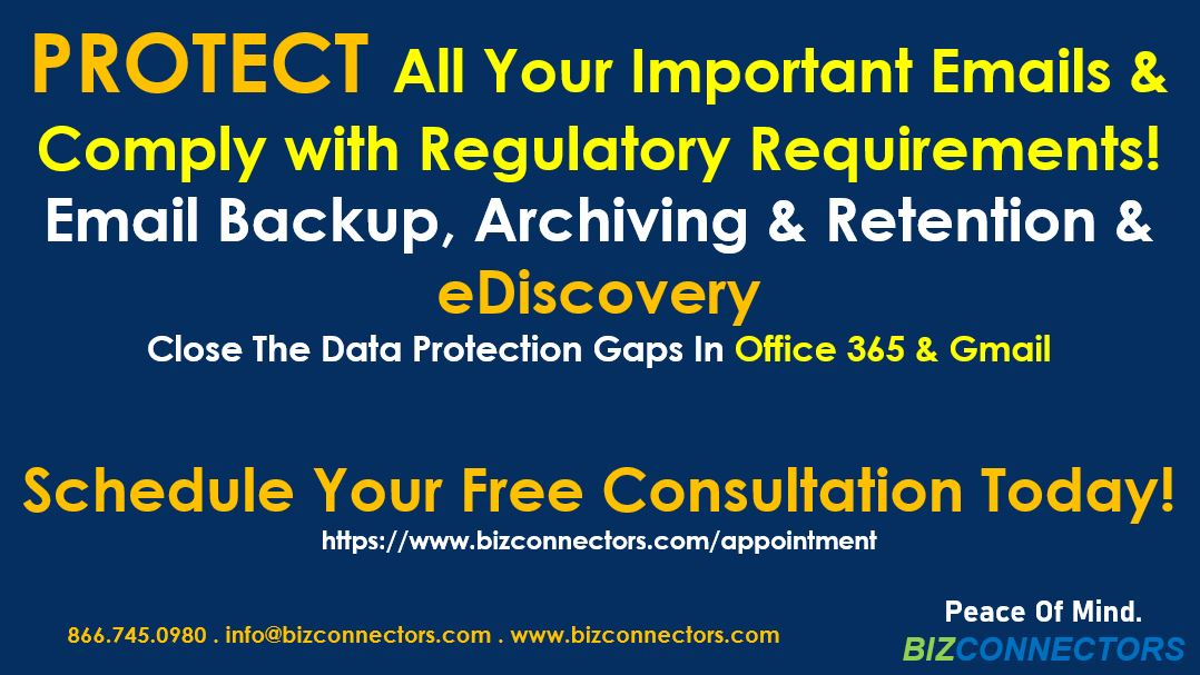 Email Backup, Archiving & Retention & eDiscovery