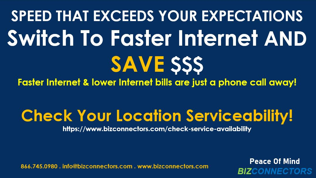 Switch To Faster Internet & Lower Your Monthly Bill