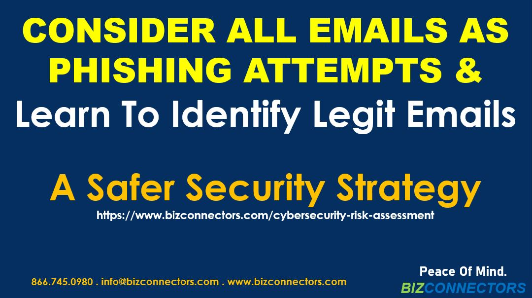 CONSIDER ALL EMAILS AS PHISHING ATTEMPTS