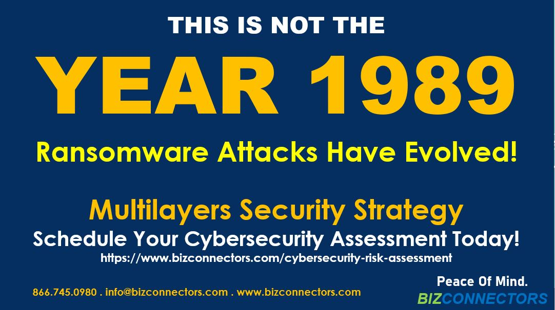 THIS IS NOT THE YEAR 1989. Bizconnectors Multilayers Security Strategy
